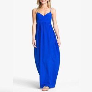 Amanda Uprichard Silk Maxi Royal Blue L
